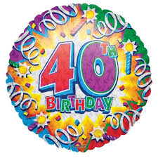 40th birthday balloons delivery birthday explosion 40th balloon delivered inflated in uk