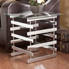 chrome glass end tables contemporary glass end tables elegant addition to your living room