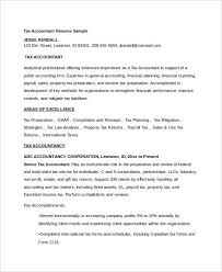 Key Accomplishments Resume Examples by 43 Free Accountant Resume Free U0026 Premium Templates