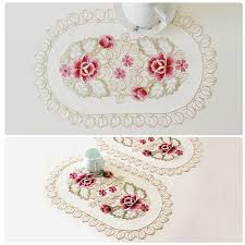 Embroidered Home Decor Fabric Popular Lace Fabric Doilies Buy Cheap Lace Fabric Doilies Lots