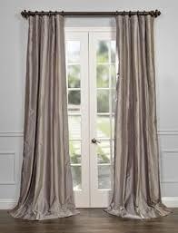 Faux Dupioni Silk Curtains Platinum Silk Curtain Dupioni Silk Grey Silver Window Dressing