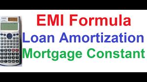 Amortization Calculator Spreadsheet Loan Amortization Emi Formula Mortgage Constant Type Of Loan
