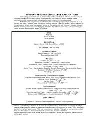 Resume Builder For College Students Resume Sample Student College Resume Templates For College