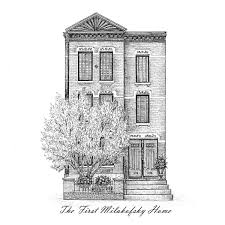 House Drawing by Classic Home Portrait House Drawing Architectural Uncommongoods