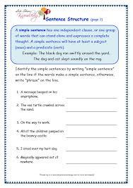 grade 3 grammar topic 36 sentence structure worksheets lets