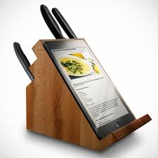 cool knife block ipad holding knife block craziest gadgets