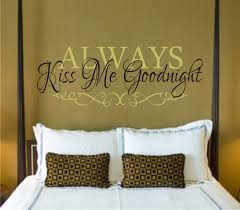 always kiss goodnight decal wall always kiss goodnight decal wall bedroom vinyl lettering art
