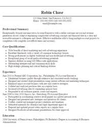 exle of resume objective resumes objectives 4 account executive resume sle