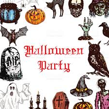 horror clipart halloween bash pencil and in color horror clipart
