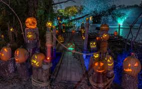 halloween night wallpaper photo pumpkin halloween night time holidays