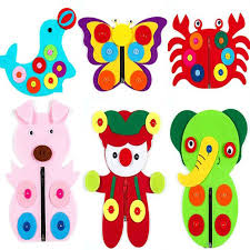 7 designs butterfly dolphin pig clown early learning