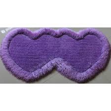 Shag Carpet Area Rugs Lavender Double Heart Shaped Shag Carpet Area Rug With Lurex 2 U0027 X