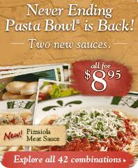 Olive Garden Never Ending Pasta Bowl Is Back - olive garden never ending pasta bowl review 25 gift card giveaway