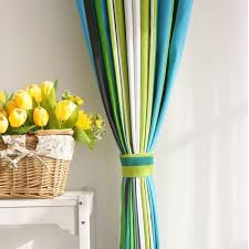 Green Striped Curtains Captivating Green And Blue Curtains And Special Design Striped