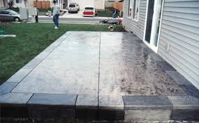 backyard concrete pics with terrific concrete backyard deck small