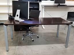 L Desk Modern Used Modern Espresso Right Oriented Kimball L Shape Desk 66 X 72