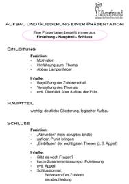 Praktikum Referat Muster Aufbau Und Gliederung Einer Pr磴sentation Folie Unterrichtsentwurf