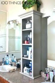 Bathroom Countertop Storage Ideas Bathroom Counter Shelves Bathroom Counter Storage Ideas