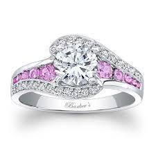 Black And Pink Wedding Rings by Barkev U0027s Modern Black Diamond Engagement Ring 7898lbk