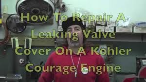 how to fix a leaking kohler courage valve cover with taryl youtube