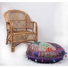 siege rond jth bohemian indien traditionnel patchwork pouf pouf ottoman siège