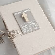 christening photo album linen christening photo album christening gifts