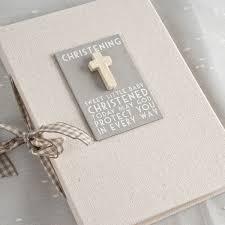 christening photo album linen christening photo album christening gifts