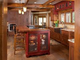 Red Leather Kitchen Chairs - kitchen amazing kitchen design ideas using round red leather tall