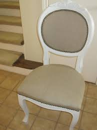 articles with white tufted dining chair with nailhead trim tag