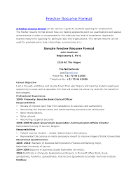 Sample Resume For Fresher Software Engineer by Format Resume Freshers Format
