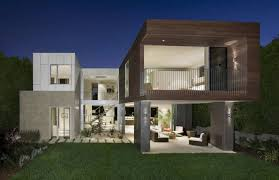modern house building modern house with many open areas trendy building architecture