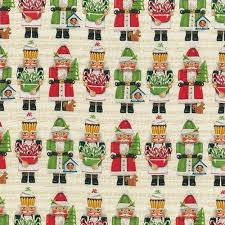 jolly nutcracker cotton quilt fabric by the yard