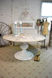 shabby chic round pedestal dining table living room ideas