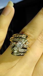 unique rare non traditional big wedding ring weddingbee