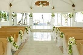 decorating church pews with tulle for a wedding ebay