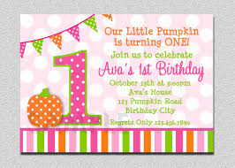 pumpkin birthday party invitations u2013 festival collections