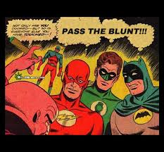 Superhero Memes - dc comics superheroes pass the blunt weed memes