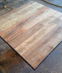 Hardwood Table Tops by Reclaimed Wood Restaurant Table Top Unfinished Wire Brushed Oak