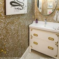 bathroom stencil ideas wall stencils the secret to remodeling your bathroom on a budget