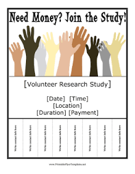 Volunteer Brochure Template by Research Study Flyer Png