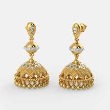 jhumkas earrings evergreen jhumkas earring at rs 25000 pair gold earrings
