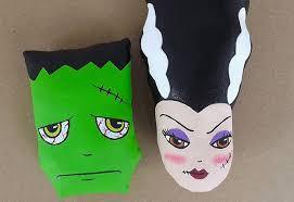 halloween arts and crafts diy mr u0026 mrs frankenstein cloth