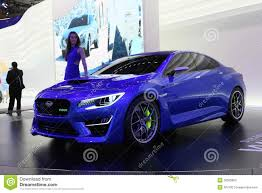 subaru purple subaru wrx concept editorial photography image of show 33585852