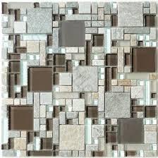 Kitchen Backsplashglass Tile And Slate by Buy Mocha Brown Unique Shapes Glass And Slate Glossy U0026 Frosted Tile