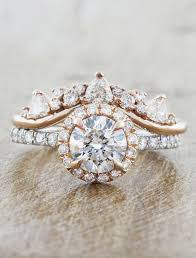 gold halo engagement rings maive halo engagement ring in gold ken