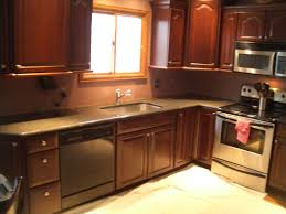kitchen backsplash cherry wood kitchen cabinets brown kitchen