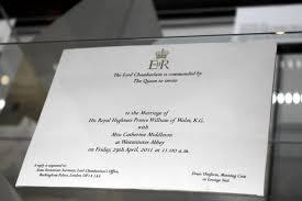 Prince William Wedding Invitation Card Royal Wedding U2013 The Listia Blog