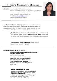 Radiologic Technologist Resume Sample by Eleanor Martinez Updated Resume October 2014