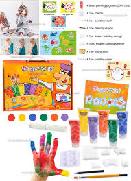 safe material finger paint play set craft creative toys for kids