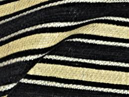 Black And Gold Curtain Fabric Canterbury Black Stripes With Gold Curtain Fabric Curtains Fabx